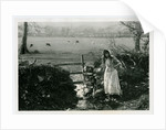 Girl in peasant dress at Claughbane, Ramsey by George Bellett Cowen