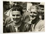 Carlo Ubbiali, winner of the 1956 Ultra Lightweight and Lightweight Race TT (Tourist Trophy) by T.M. Badger