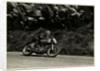 Nick Nicholson riding Norton number 2, Kate's Cottage, 1953 Senior TT (Tourist Trophy) by T.M. Badger