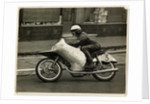 Werner Haas riding NSU number 3, 1954 125 or 250cc TT (Tourist Trophy) by T.M. Badger
