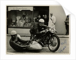 Walter Schneider, aboard BMW Steib outfit passing through Onchan, 1954 Sidecar TT (Tourist Trophy) by T.M. Badger