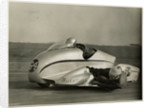 Eric Oliver, driving Watsonian sidecar outfit, Silverstone, 1954 by T.M. Badger