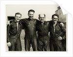TT sidecar riders Cyril Smith and Eric Oliver with their passengers by T. M. Badger
