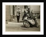 Fron Purslow, aboard 124cc Ducati (number 18), 1958 125 TT (Tourist Trophy) by T.M. Badger