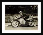 John Surtees, riding as number 62, 1958 Junior TT (Tourist Trophy) by T.M. Badger