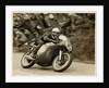 Derek Minter aboard Norton (number 16) 1958 Senior TT (Tourist Trophy) by T.M. Badger