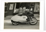 TT (Tourist Trophy) rider aboard an MV Agusta (number 26) by T.M. Badger