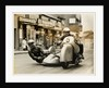 BMW sidecar outfit (number 5) passing through Onchan village by T.M. Badger