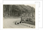 TT (Tourist Trophy) sidecar outfit (number 20) at Nursery Bends (?) by T.M. Badger