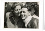 Geoff Duke, TT (Tourist Trophy) rider with his mother by T.M. Badger