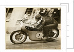Tarquino Provini, TT (Tourist Trophy) rider riding MV Agusta (number 1) by T.M. Badger