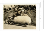 Bill Lomas TT (Tourist Trophy) rider aboard machine number 12 by T.M. Badger