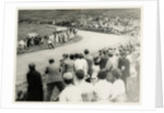 TT (Tourist Trophy) rider number 1 passes large crowd on the Mountain by T.M. Badger