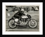 Robin Sherry, TT (Tourist Trophy) rider riding Norton (number 42) at Boreham track, Essex by T.M. Badger