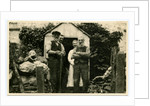 Fred Christian with others at Lhergy Rhenny front door by Anonymous