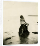 Study of naked young girl on rock by George Bellett Cowen