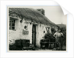 John Kinnish ('Old Pete') standing outside his cottage by Thomas Horsfell Midwood