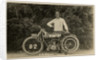 Dougie M. Brown posing with Humber machine number 82 (registration MN 11), 1914 (?) TT (Tourist Trophy) by Anonymous