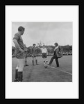 George Best kicking-off charity football match by Manx Press Pictures