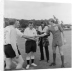 George Best at charity football match by Manx Press Pictures