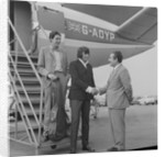 Englebert Humperdinck with his brother landing at Ronaldsway Airport by Manx Press Pictures
