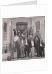 Dart players outside Edinburgh hotel by Manx Press Pictures