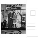 Holidaymakers arrive at Ronaldsway Airport by Manx Press Pictures