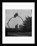 Installation of 'The Watcher' sculpture outside the Manx Museum by Manx Press Pictures