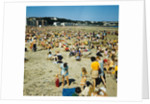 Holidaymakers on Douglas beach by Manx Press Pictures