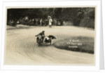 V. Naure and M. Canto aboard sidecar outfit number 34, 1925 Sidecar TT (Tourist Trophy) by Thomas Horsfell Midwood