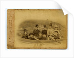 Members of the Harrison family pictured as if in rowing boat by Spence Lees