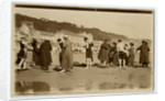Bathers on Douglas beach by Anonymous
