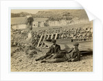 Two gentlemen on the beach at Niarbyl by James Hatfield