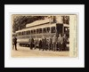 John Mylroie with Railway men at Laxey Station by Spence Lees
