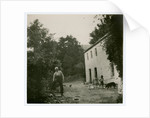 John Christian in his farmyard, behind Sulby woollen mill by Anonymous