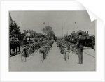 Machines lined up ahead at the start of a race, 1913 TT (Tourist Trophy) by Anonymous