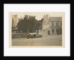 Motorcar no.23 G. Bedford in a Hillman at Parliament Square turning off Lezayre Road, Ramsey, 1922 Tourist Trophy motorcar race by Anonymous