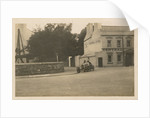 Motorcar no.24 Algernon Lee Guinness in a Talbot-Darracq at Parliament Square, turning off Lezayre Road, Ramsey, 1922 Tourist Trophy motorcar race by Anonymous