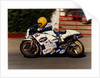 Joey Dunlop aboard Rothman's Number3 rounds Ballacraine in the 1980 Formula One TT (Tourist Trophy) by Anonymous