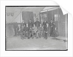 First World War Internee Orchestra inside internment hut, Douglas or Knockaloe by Anonymous