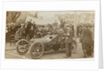 Hon. Charles Rolls in his Wolseley motorcar at Ramsey Control, Queens Pier Road, Ramsey, 1905 Gordon Bennett Trials by Anonymous