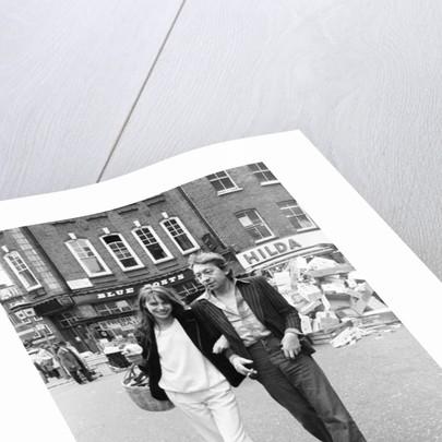 Jane Birkin and husband Serge Gainsbourg by Eric Harlow