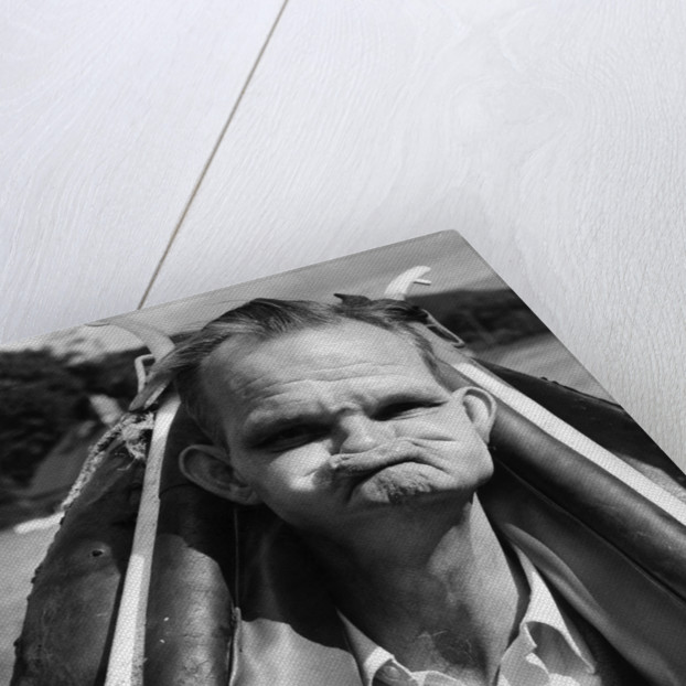 Competitor in the World Gurning Competition by Staff