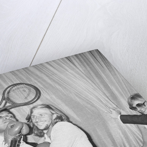 Muhammad Ali and Bjorn Borg by Staff