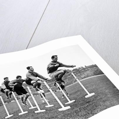 Charlton pre season training 1954 by Dennis Rowe