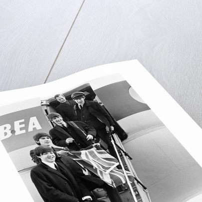 Beatles arrive back at Heathrow from Paris 1964 by Victor Crawshaw