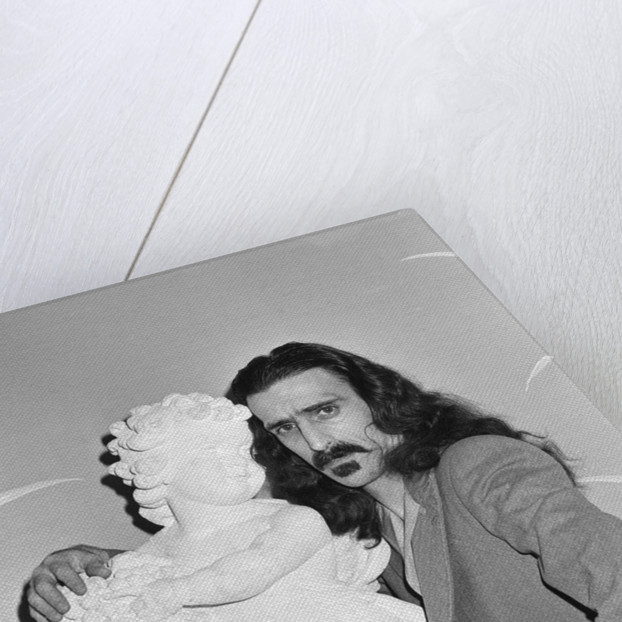 Frank Zappa pictured at The Dorchester Hotel in London. by Sidey
