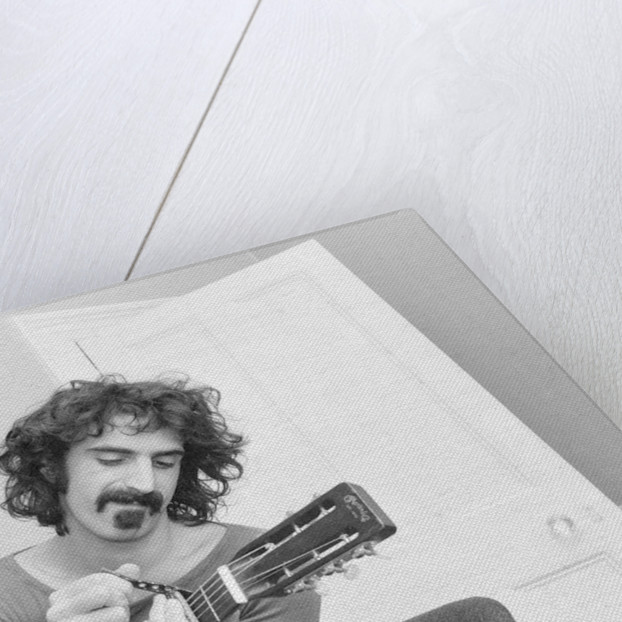 Frank Zappa, pictured in London in 1971 by Bill Rowntree