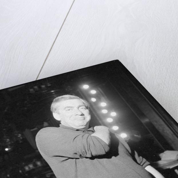 Tony Hancock on the stage of The London Palladium by Roy Illingworth