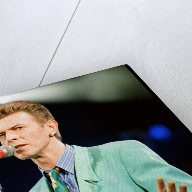 David Bowie performing at The Freddie Mercury Tribute Concert for Aids Awareness, at Wembley Stadium. April 1992 by Staff